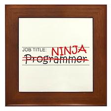 Job Ninja Programmer Framed Tile