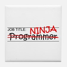 Job Ninja Programmer Tile Coaster