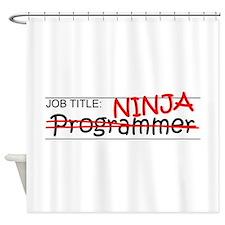 Job Ninja Programmer Shower Curtain