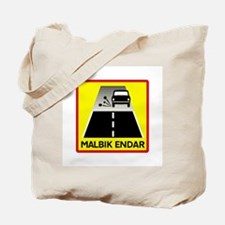 End Of Tarred Road - Iceland Tote Bag
