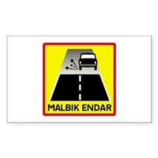 End Of Tarred Road - Iceland Rectangle Decal