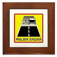 End Of Tarred Road - Iceland Framed Tile
