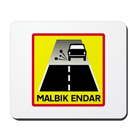 End Of Tarred Road - Iceland Mousepad