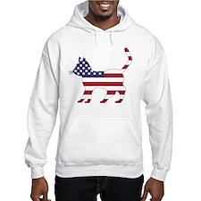 US Flag Cat Icon Hoodie