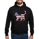 Patriotic cat flag Hoodie (dark)