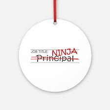 Job Ninja Principal Ornament (Round)
