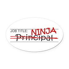Job Ninja Principal Oval Car Magnet