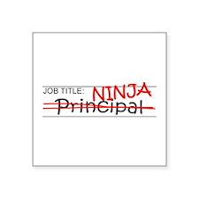 """Job Ninja Principal Square Sticker 3"""" x 3"""""""
