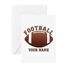 Personalized Name Footbal Greeting Card
