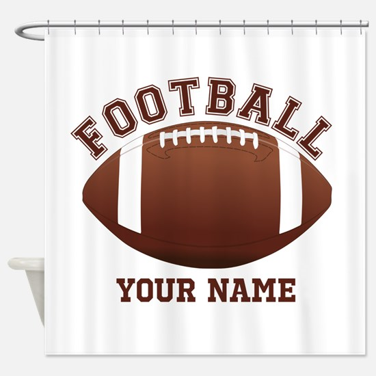 Personalized Name Footbal Shower Curtain