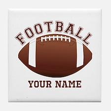Personalized Name Footbal Tile Coaster