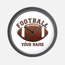 Personalized Name Footbal Wall Clock