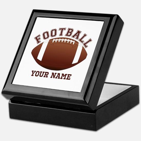 Personalized Name Footbal Keepsake Box