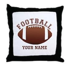 Personalized Name Footbal Throw Pillow