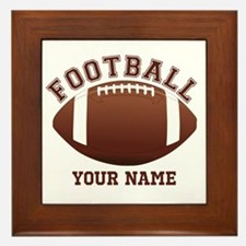 Personalized Name Footbal Framed Tile
