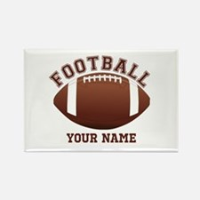 Personalized Name Footbal Rectangle Magnet (100 pa