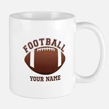 Personalized Name Footbal Small Mugs
