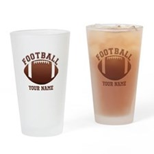 Personalized Name Footbal Drinking Glass