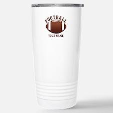 Personalized Name Footbal Travel Mug