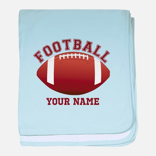 Personalized Name Footbal baby blanket