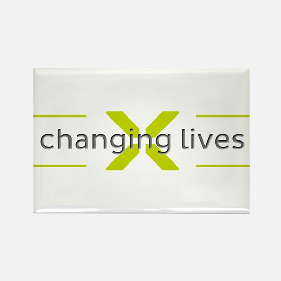Changing Lives Rectangle Magnet