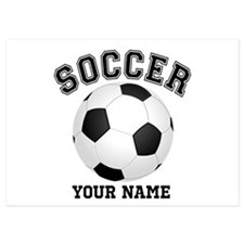 Personalized Name Soccer Invitations