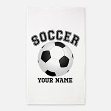 Personalized Name Soccer 3'x5' Area Rug