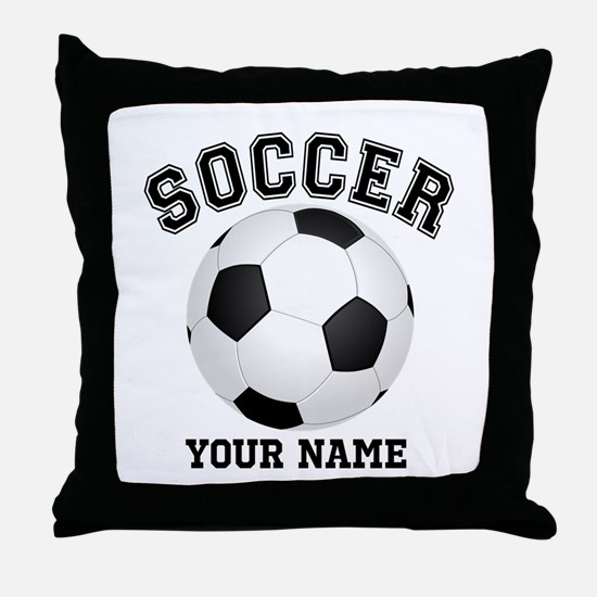 Personalized Name Soccer Throw Pillow