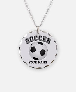 Personalized Name Soccer Necklace