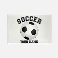 Personalized Name Soccer Rectangle Magnet (100 pac