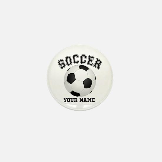 Personalized Name Soccer Mini Button