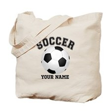 Personalized Name Soccer Tote Bag