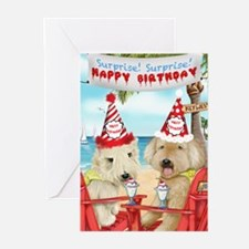 Wheaten Terriers Surprise Birthday Greeting Cards