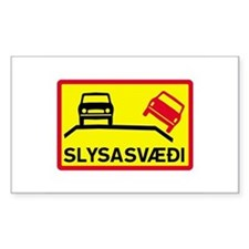 Accident Risk Area - Iceland Rectangle Decal