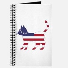 Betsy Ross Flag Cat Icon Journal