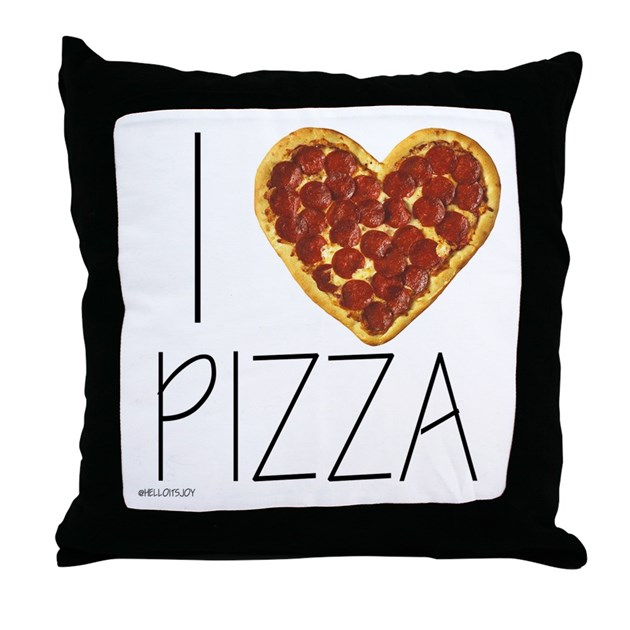 I Love Pizza Throw Pillow By Listing Store 111890493