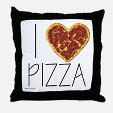 i love pizza Throw Pillow