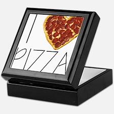 i love pizza Keepsake Box