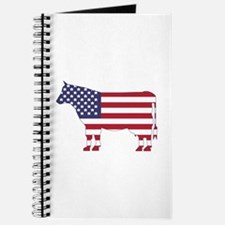 US Flag Cow Icon Journal