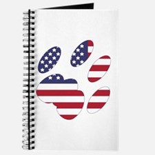 US Flag Cat Paw Journal
