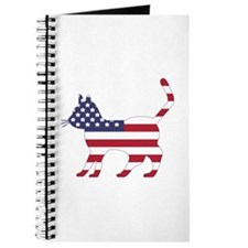 US Flag Cat Icon Journal