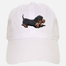 Doxie With Bone Baseball Baseball Cap
