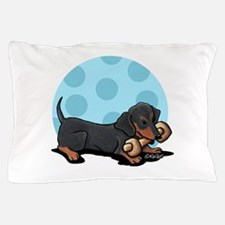 Doxie With Bone Pillow Case
