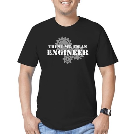 Trust Me I'm An Engineer Men's Fitted T-Shirt (dar