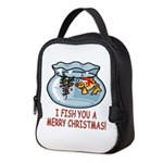 I FISH YOU A MERRY CHRISTMAS! Neoprene Lunch Bag