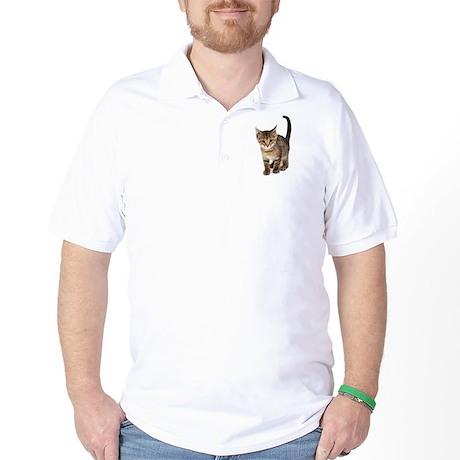Cute Brown Tabby Kitten Golf Shirt