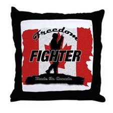 Canadian Freedom Fighter Throw Pillow