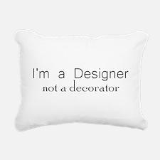 Designer not a decorator.png Rectangular Canvas Pi