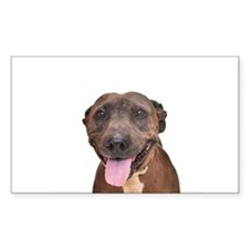 Cute Pit Bull Terrier Rescue Decal