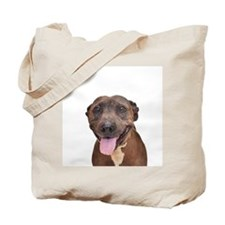 Cute Pit Bull Terrier Rescue Tote Bag